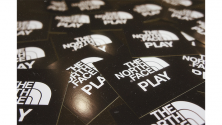 THE NORTH FACE PLAY STICKER PRESENT